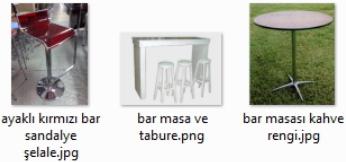 Ayaklı Bar Sandalyesi
