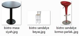 bistro masa siyah kahve ve beyaz renkler bar masası