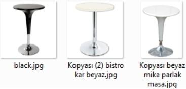 Black White Beyaz Siyah Bar masa ve sandalyeleri