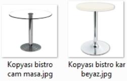 Cam ve ahşap bar masasi kiralama