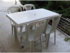 Dört altı kişilik plastik masa sandalye kiralama