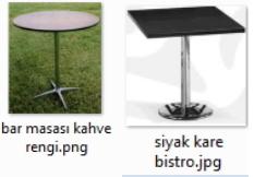 Kiralık Bar Masaları