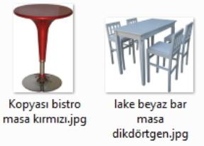 Rengarenk bar masaları