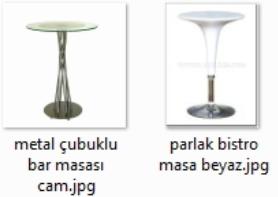 Metal ayaklı bar masası