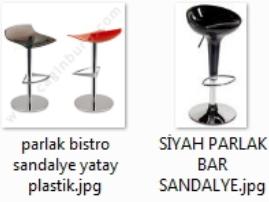 Parlak ayaklı bar masası