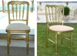 Sarı renk tonet sandalyeleri kiralama hizmet